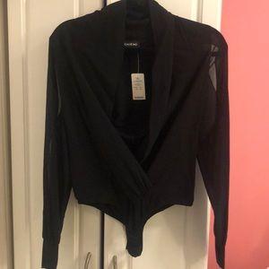 New with tags Bebe silk lake wrap bodysuit